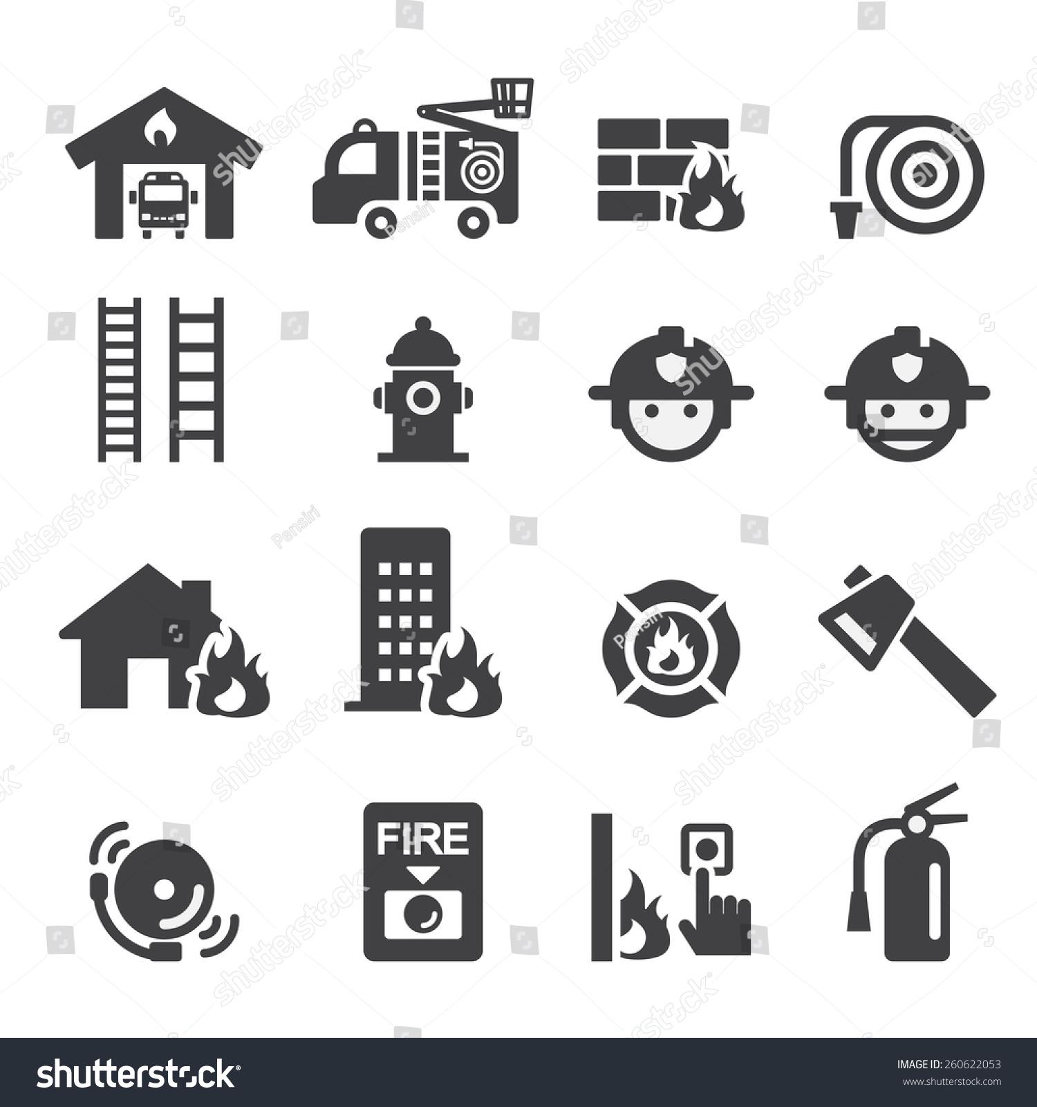 Fire Department Icon Stock Vector 260622053 Shutterstock