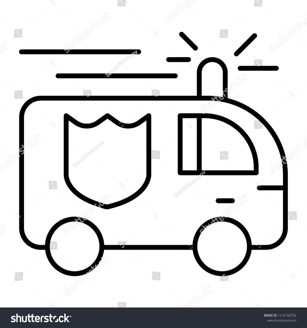 medium resolution of fire engine thin line icon fire truck vector illustration isolated on white firefighting car