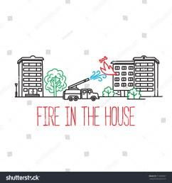 fire truck extinguishes an apartment building [ 1500 x 1600 Pixel ]