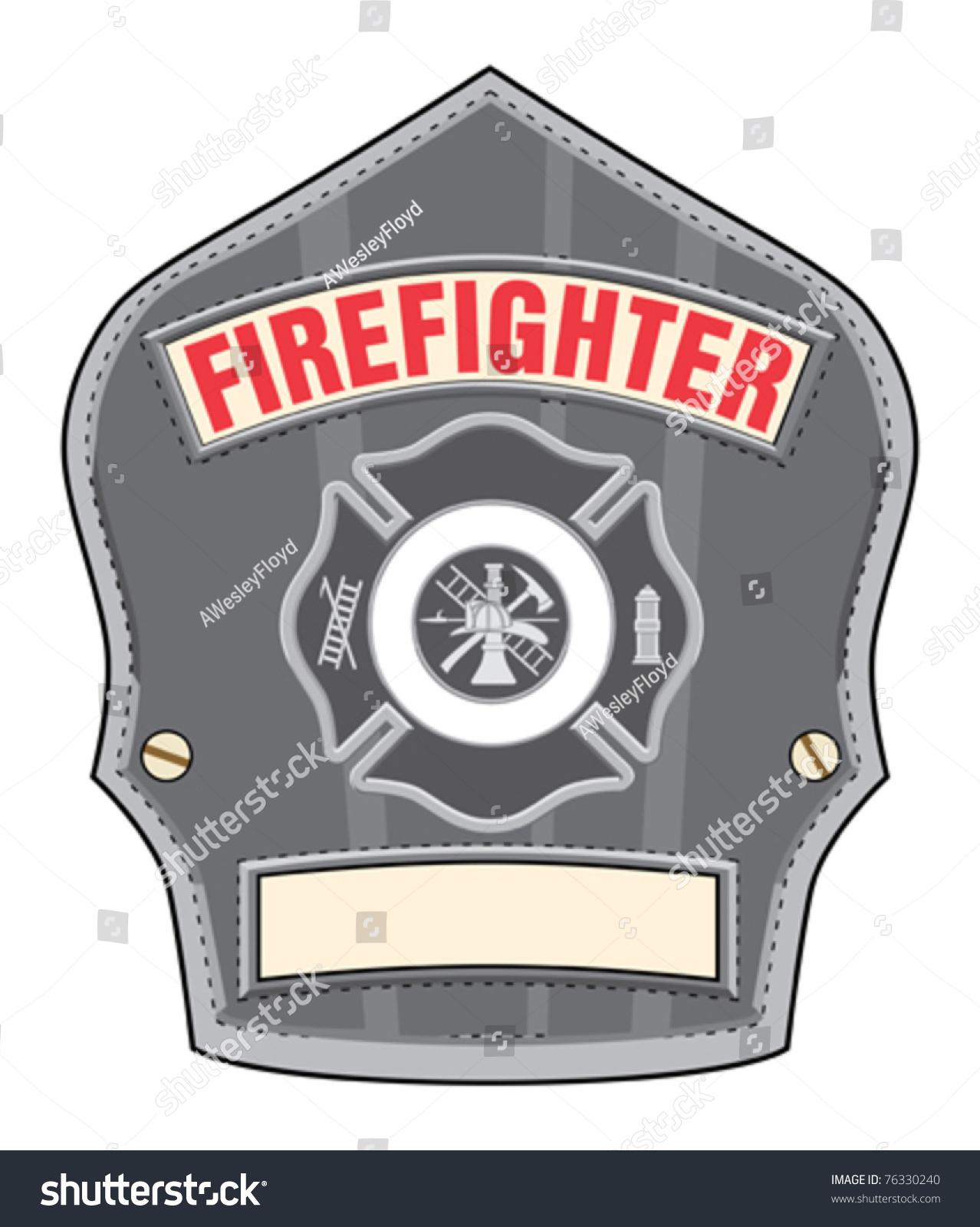 firefighter helmet badge illustration