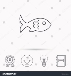 fish with fin and scales icon seafood sign vegetarian food symbol download arrow [ 1500 x 1600 Pixel ]