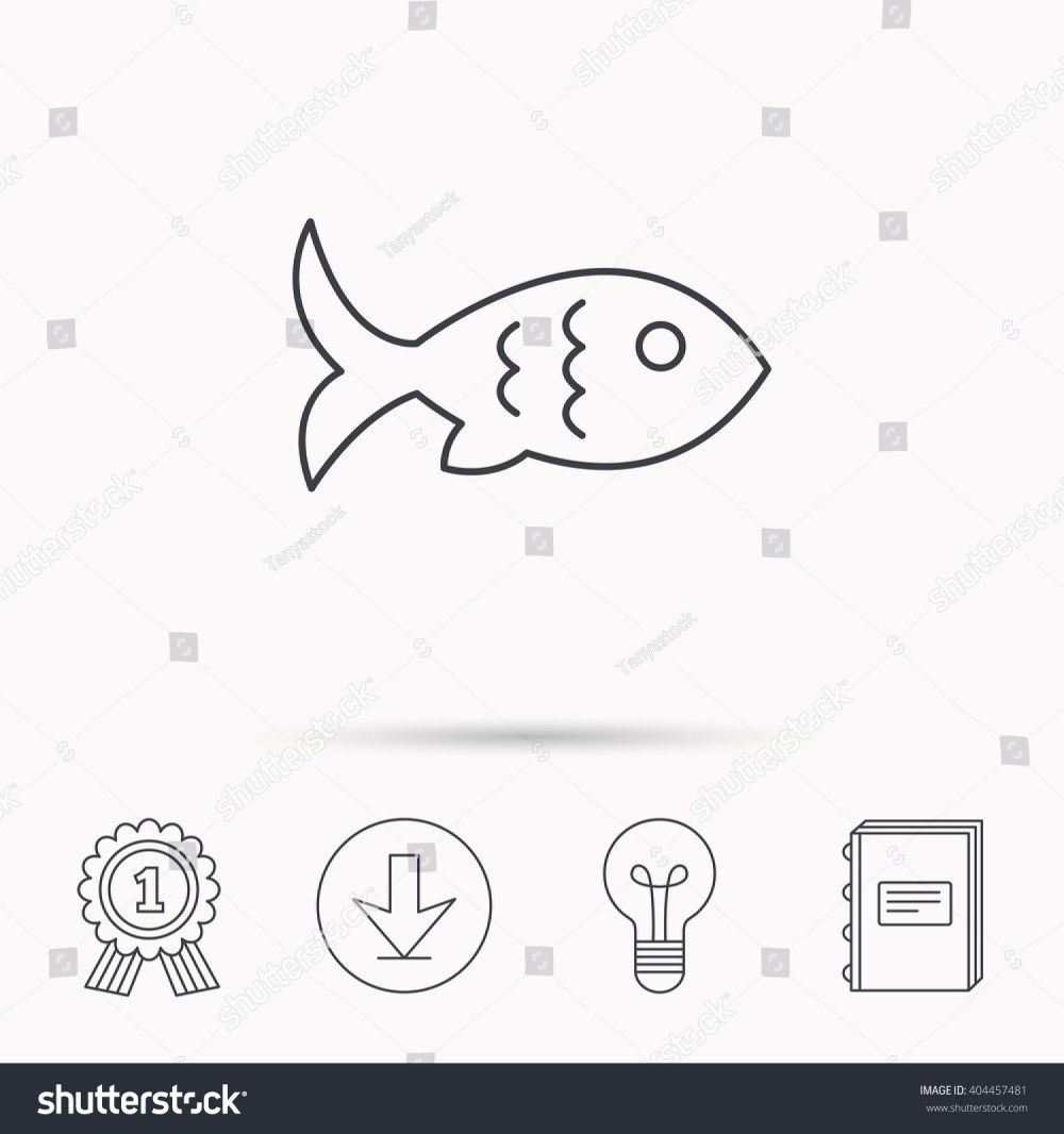medium resolution of fish with fin and scales icon seafood sign vegetarian food symbol download arrow