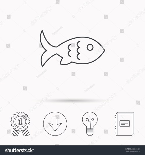small resolution of fish with fin and scales icon seafood sign vegetarian food symbol download arrow