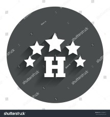 Five Star Hotel Apartment Sign Icon Stock Vector 221998417
