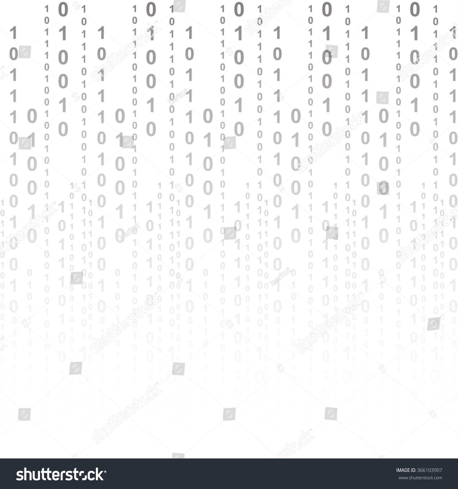 Flat Binary Code Screen Listing Table Cypher Stock Vector Illustration 366103907 : Shutterstock