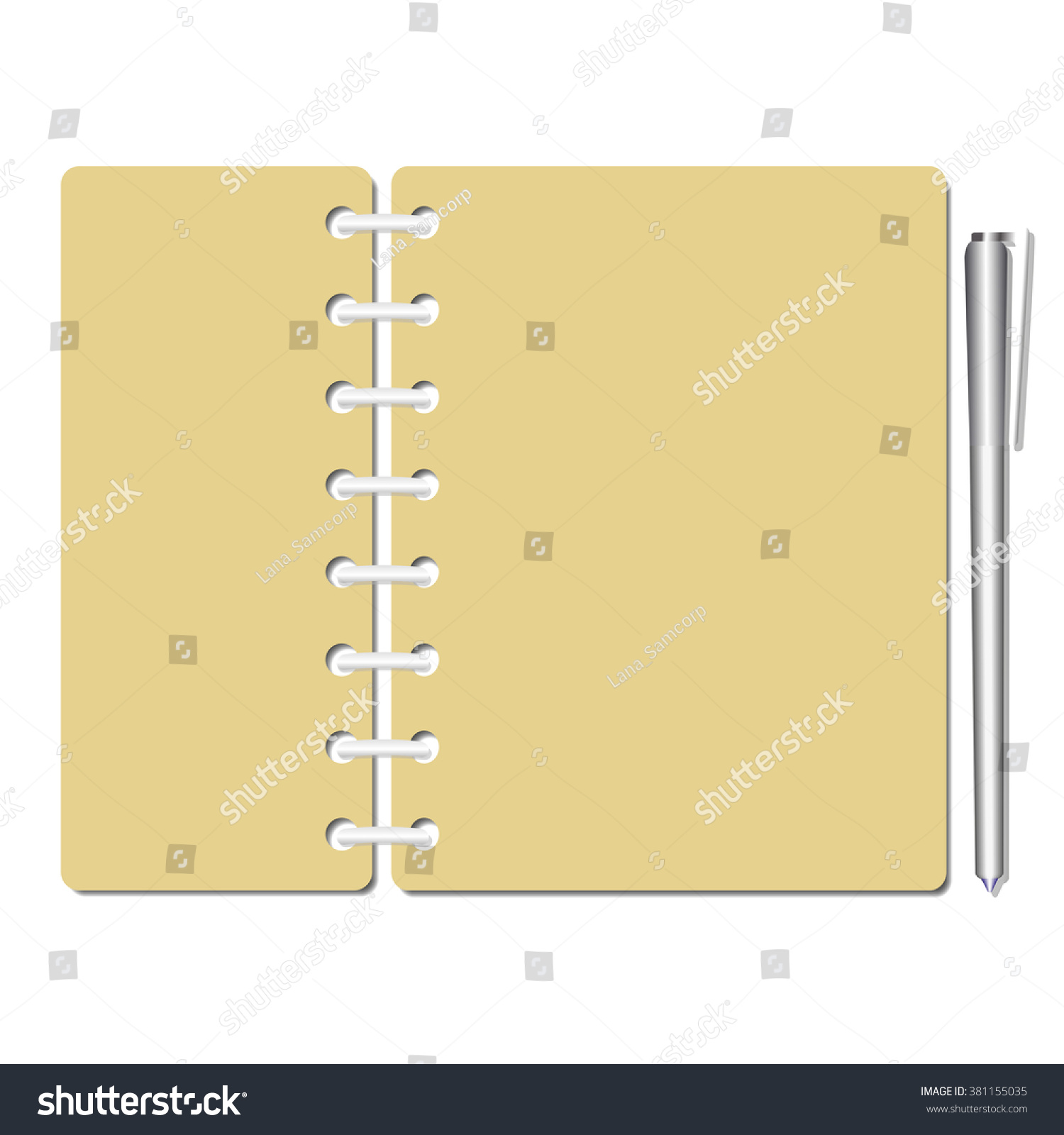 Flat Identity Blank Notebook Sheets/pages,checklist/memo/test/exam.