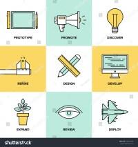 Flat Line Icons Set Creative Design Stock Vector 200254469 ...