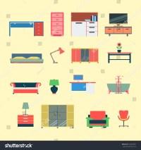 Flat Style Modern Creative Furniture Web Stock Vector ...