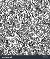 Floral Background Indian Ornament Seamless Pattern Stock ...