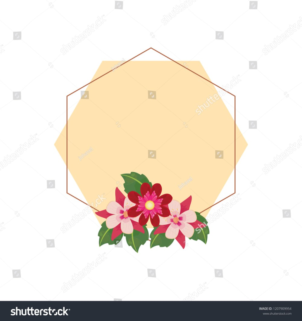 medium resolution of floral frame label flowers decoration