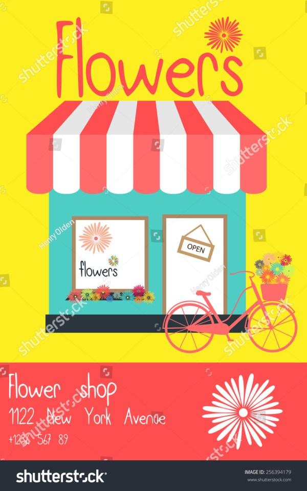 Flower Vector Flyer Template Stock 256394179 - Shutterstock