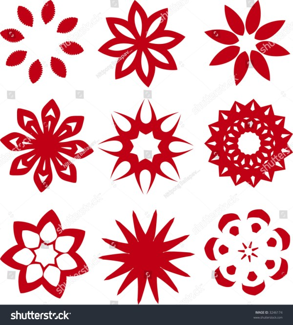 flower star figures clip art vector
