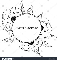flower vector drawing frame isolated template hand drawn floral wedding invitation label template anniversary card  [ 1472 x 1600 Pixel ]