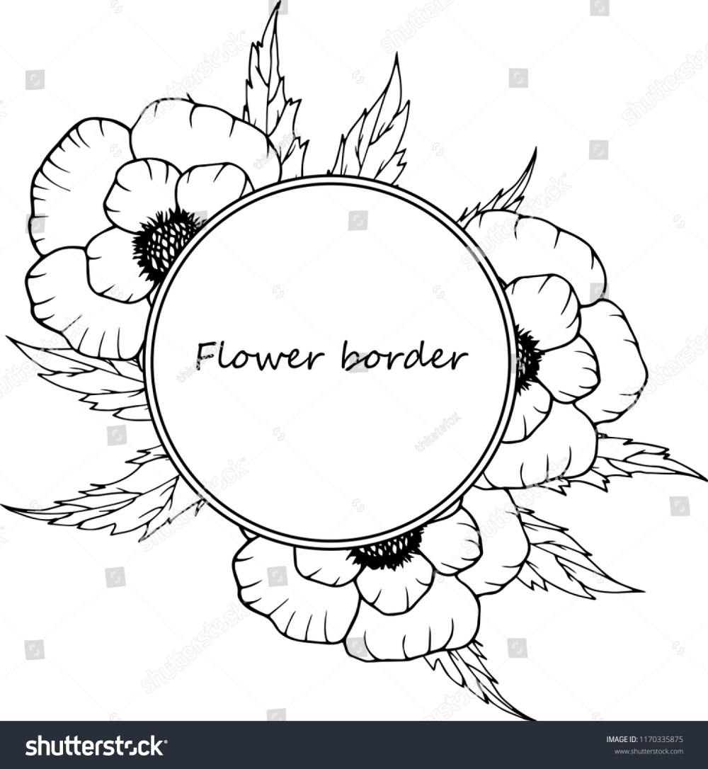medium resolution of flower vector drawing frame isolated template hand drawn floral wedding invitation label template anniversary card