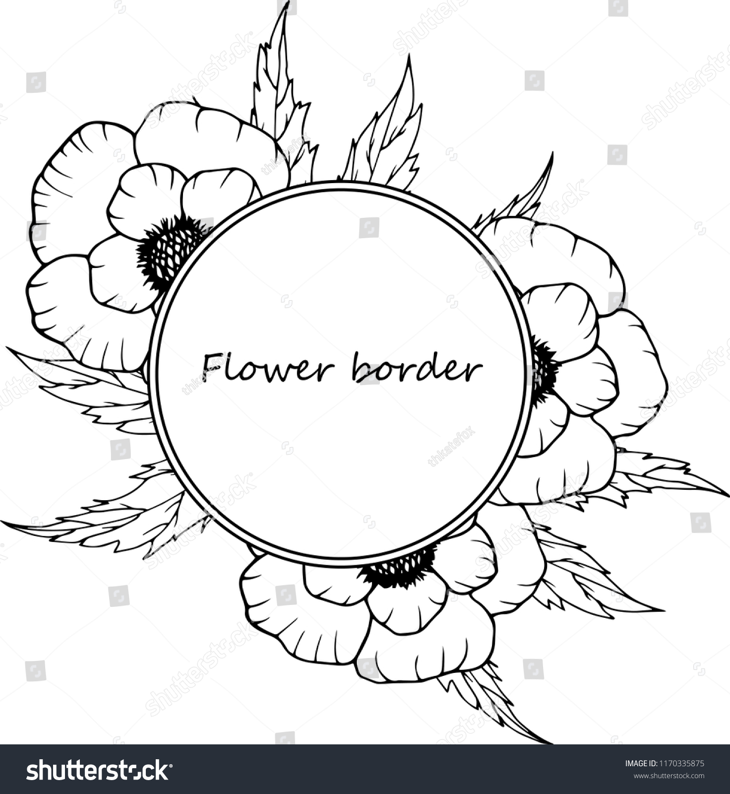 hight resolution of flower vector drawing frame isolated template hand drawn floral wedding invitation label template anniversary card