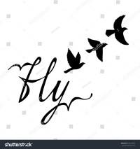 Cute Flying Bird Silhouette