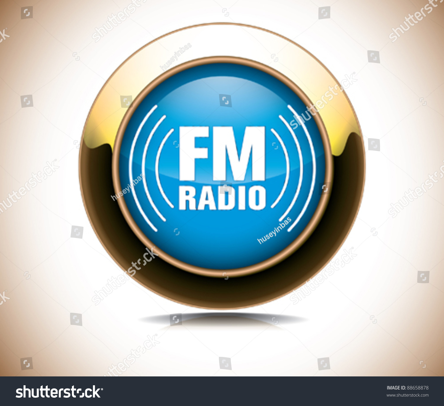 Fm Radio Icon Stock Vector 88658878 Shutterstock