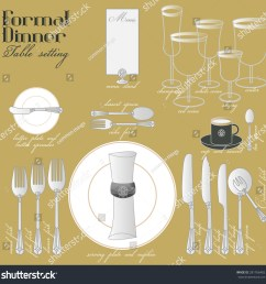 formal dinner table setting formal dining stock vector royalty free elegant table setting diagram [ 1500 x 1500 Pixel ]