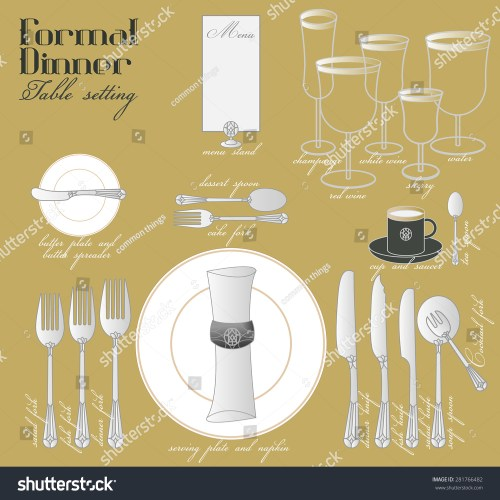 small resolution of formal dinner table setting formal dining stock vector royalty free elegant table setting diagram