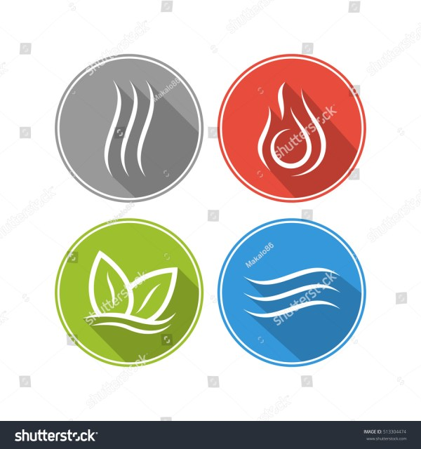 Fire Water Air Earth Symbol And Life Vtwctr