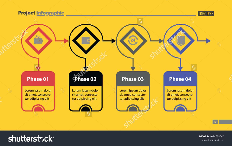 hight resolution of four options process chart slide template business data flow diagram design
