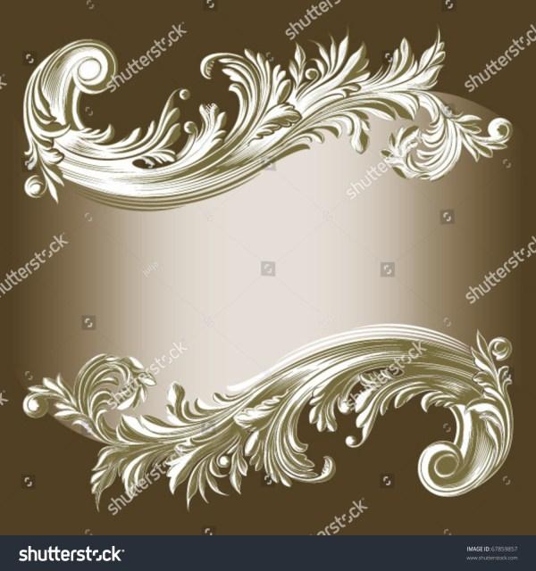 Frame Filigree Design Element Stock Vector 67859857
