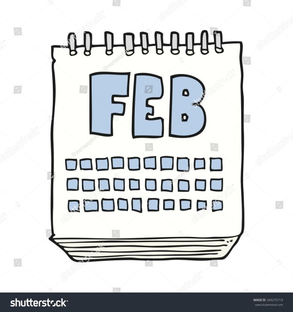 Freehand Drawn Cartoon Calendar Showing Month Stock Vector