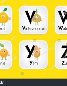 Fruit and vegetable alphabet chart for kids eating toddlers printable in  also stock vector royalty rh shutterstock