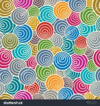 Funky Style Seamless Pattern Colorful Vector Stock Vector ...