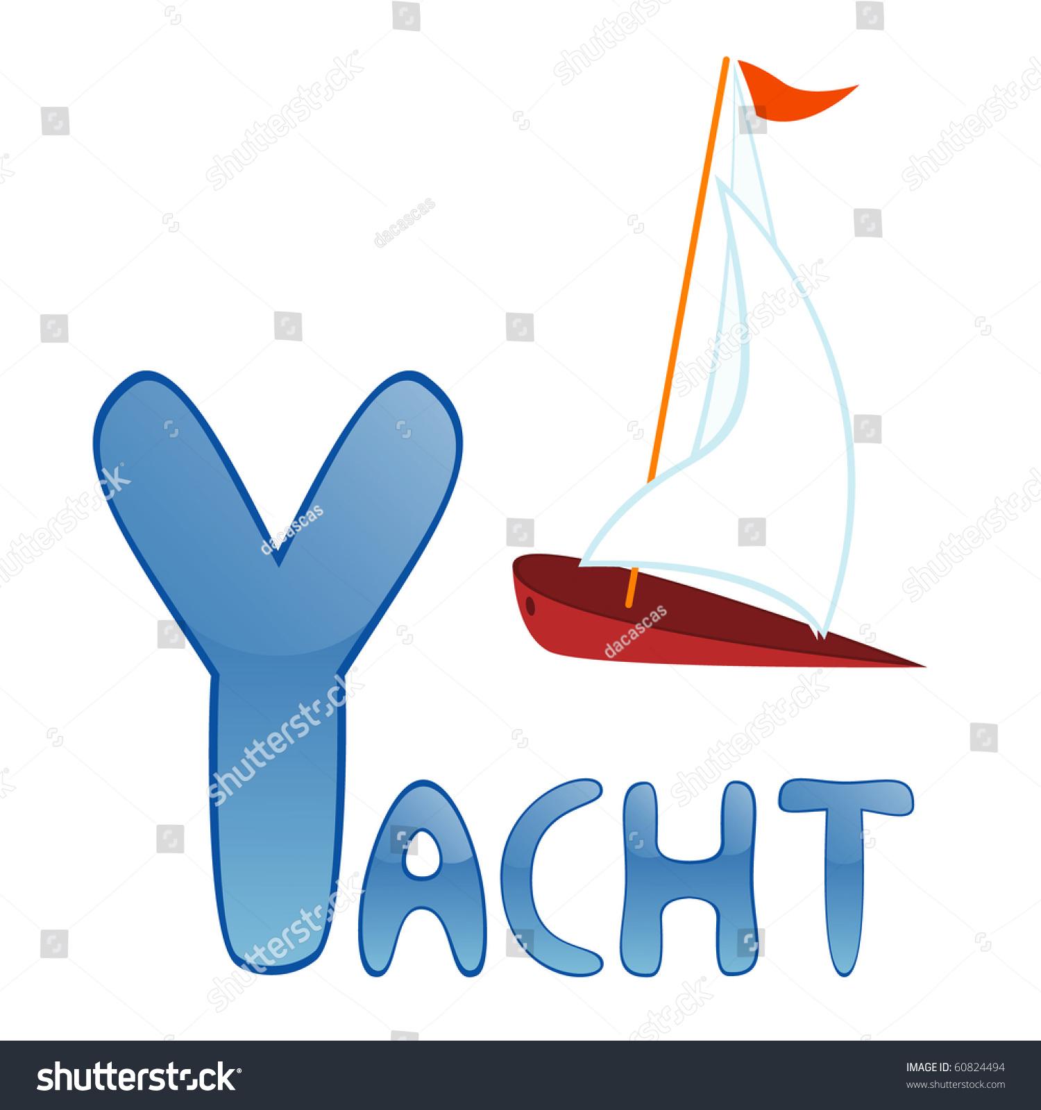 Funny Alphabet For Children Yacht