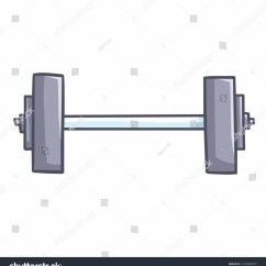 Funny Exercise Diagram 2003 Buick Rendezvous Abs Wiring Cute Big Barbell Your Gym Stock Vector Royalty Free And For