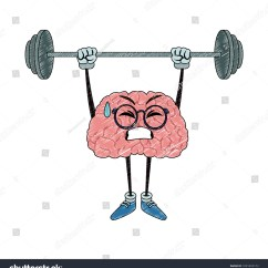 Funny Exercise Diagram Reese Trailer Hitch Wiring Brain Cartoon Lifting Weights Scribble Stock Vector Royalty