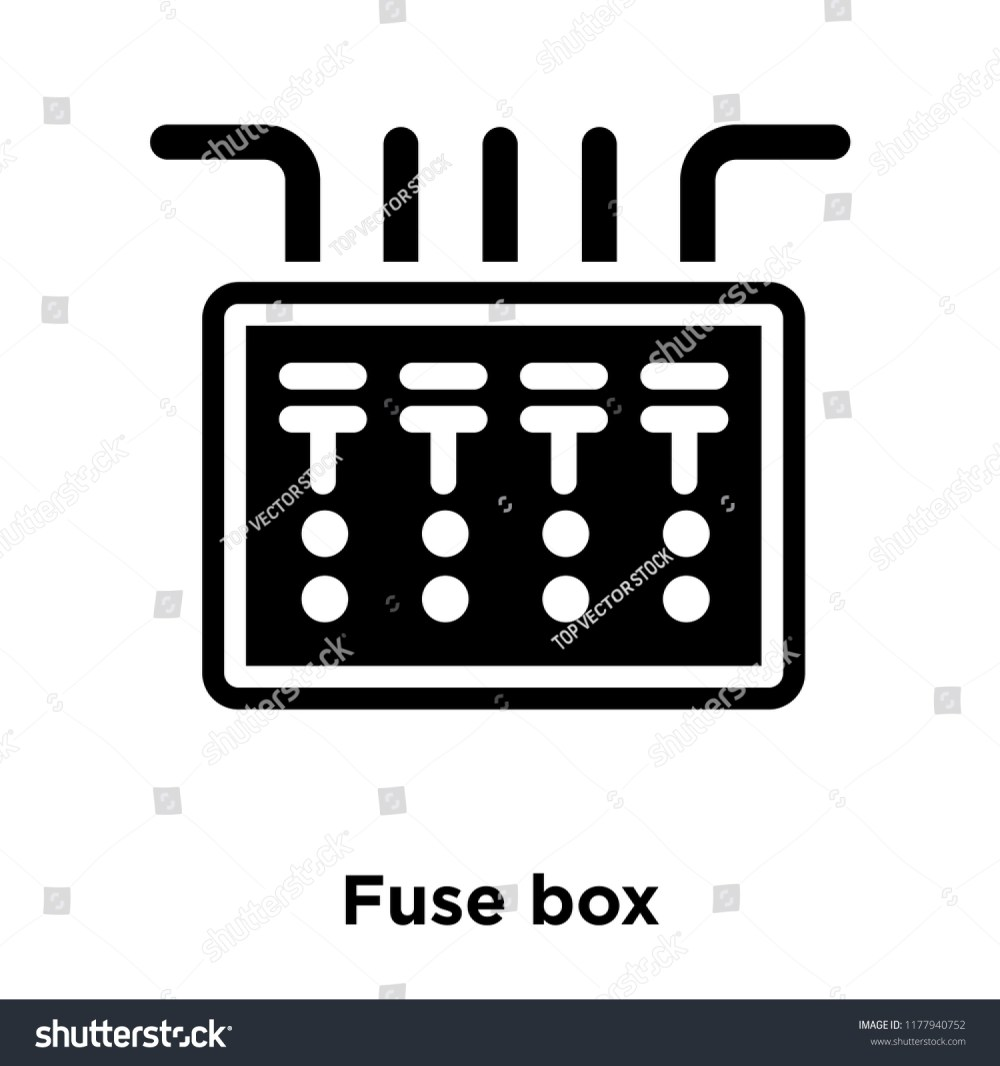 medium resolution of fuse box icon vector isolated on white background logo concept of fuse box sign on