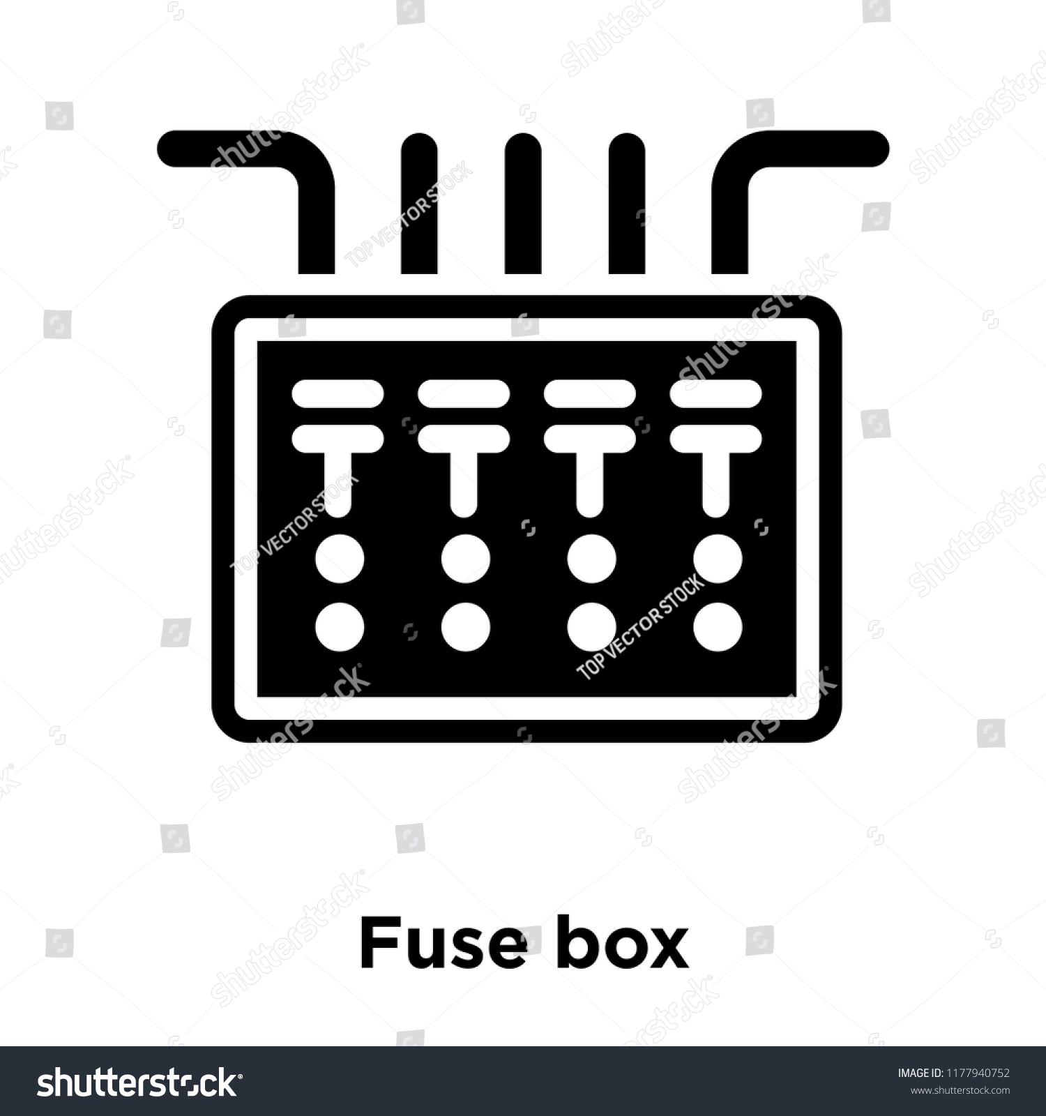 hight resolution of fuse box icon vector isolated on white background logo concept of fuse box sign on