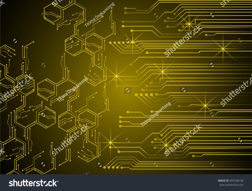 small resolution of future technology yellow light cyber security concept background abstract hi speed digital data internet