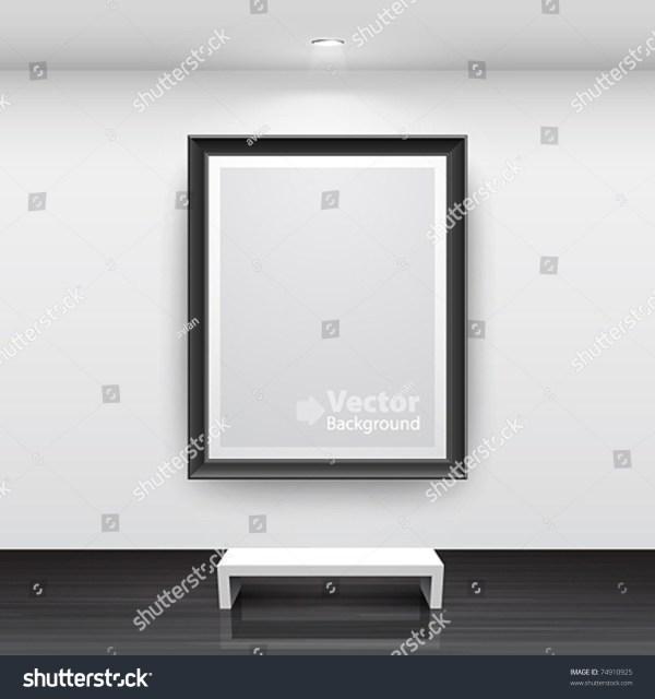 Interior Empty Black Frame Stock Vector