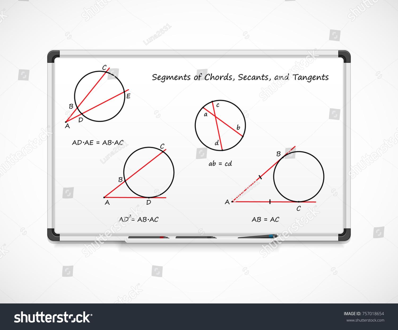 Geometry Segments Chords Secants Tangents Mathematical