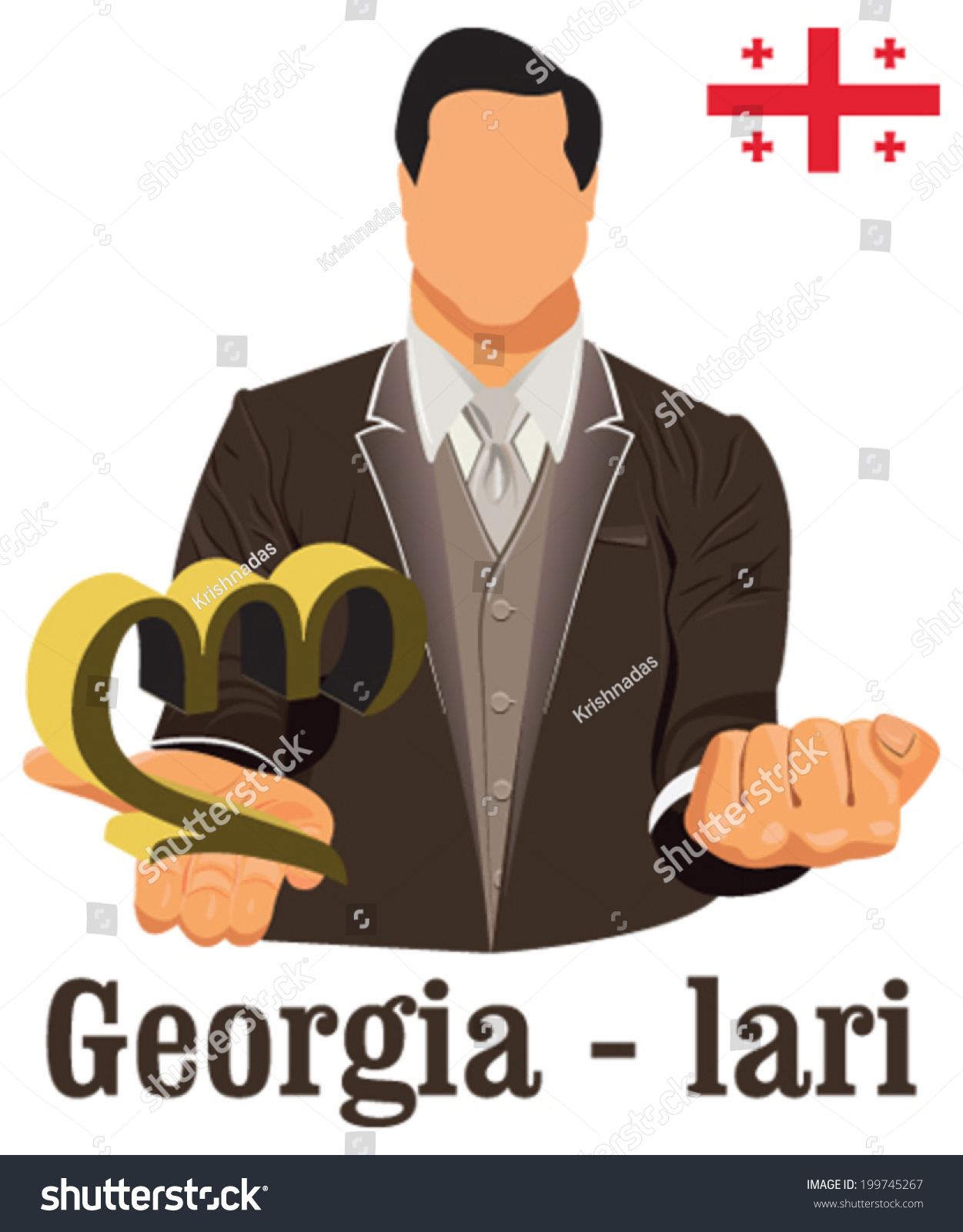 Lari Vektor : vektor, Georgia, National, Currency, Georgian, Symbol, Stock, Vector, (Royalty, Free), 199745267