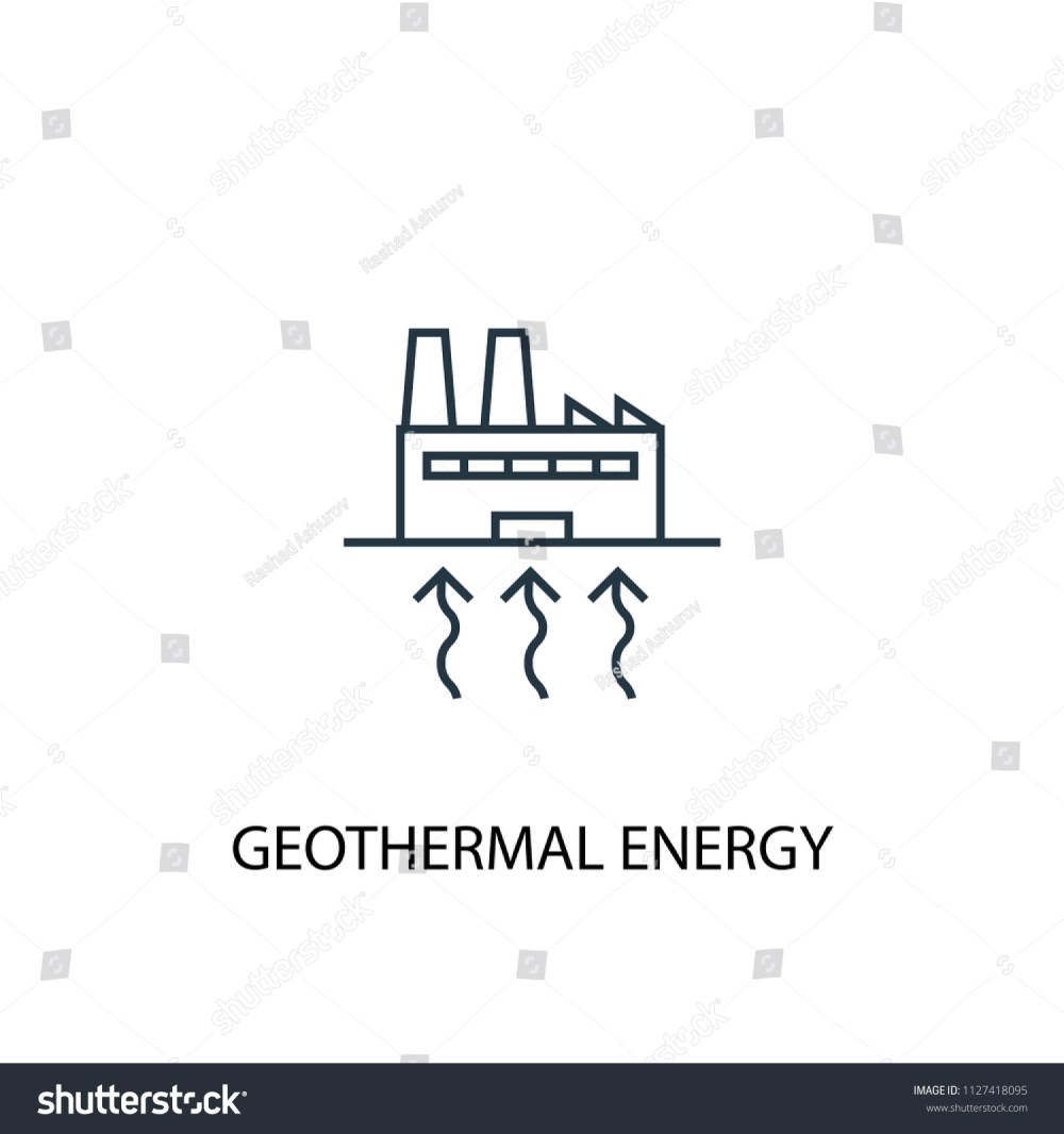 medium resolution of geothermal energy concept line icon simple element illustration geothermal energy concept outline symbol design