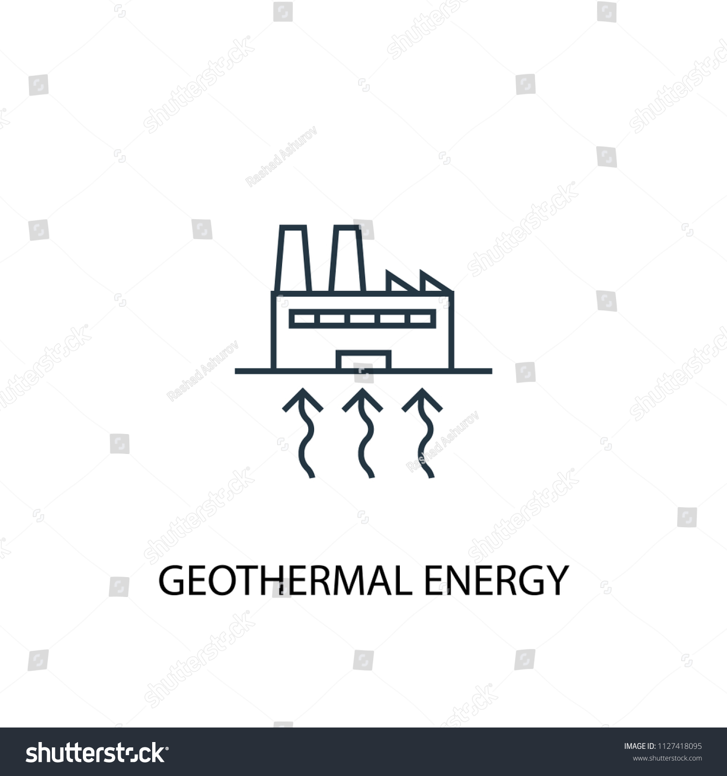 hight resolution of geothermal energy concept line icon simple element illustration geothermal energy concept outline symbol design