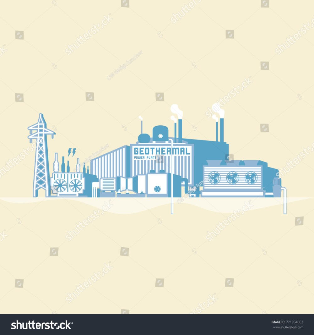 medium resolution of geothermal energy geothermal power plant with boiler and seam turbine generate the electric in simple
