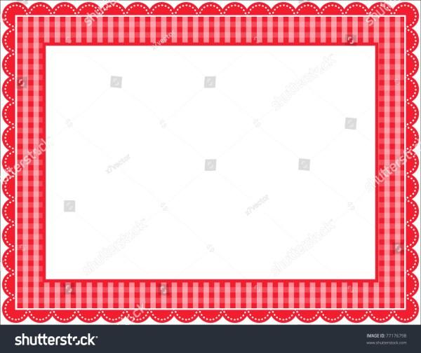 Gingham Frame Stock Vector Illustration 77176798