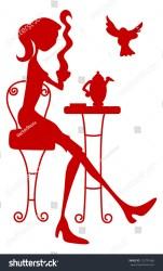 silhouette restaurant shutterstock vector official