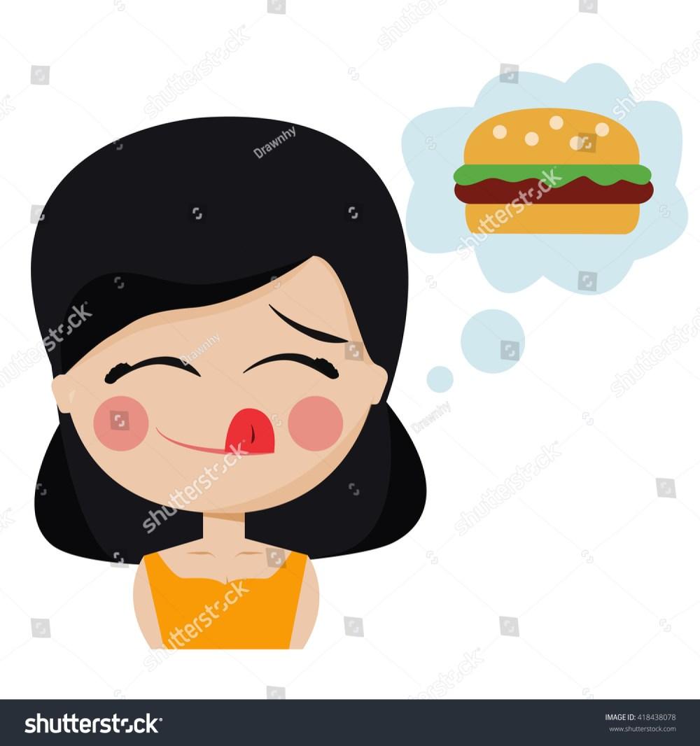 medium resolution of girl hungry wants hamburger