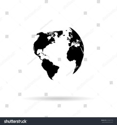 globe vector silhouette world map illustration globe isolated set [ 1500 x 1600 Pixel ]