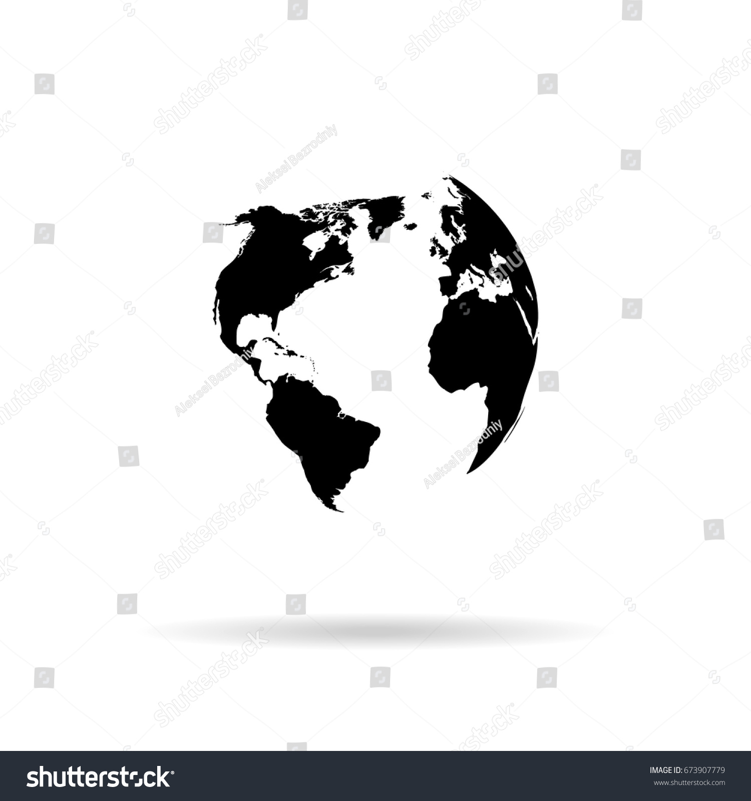 hight resolution of globe vector silhouette world map illustration globe isolated set