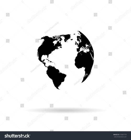 small resolution of globe vector silhouette world map illustration globe isolated set