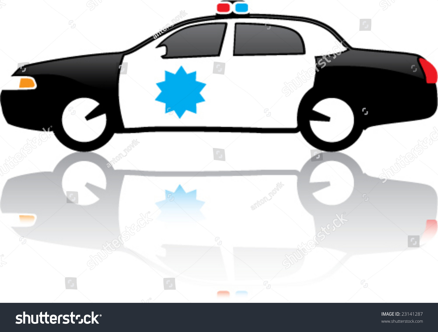 vehicle diagram clip art jayco tent trailer wiring glossy police car vector illustration 23141287