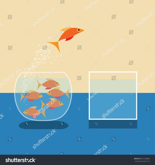 small resolution of goldfish jumping out of water vector flat design