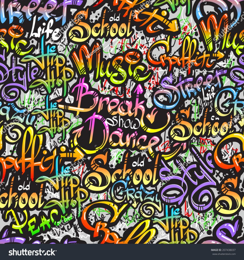 Graffiti Spray Paint Expressive Street Crazy Stock Vector ...